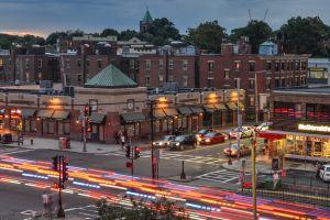 long exposure usa city motion blur