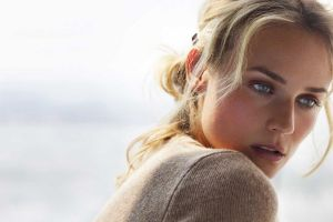 long hair blue eyes portrait women diane kruger face simple background actress looking away open mouth blonde sweater