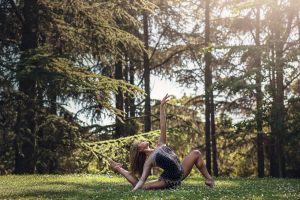 long hair dancer splits brunette ballerina leotard women exercise women outdoors