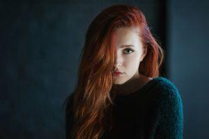 long hair depth of field women vladislava masko face redhead