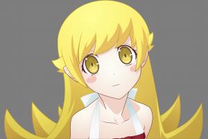 long hair monogatari series blonde oshino shinobu anime anime girls vector art