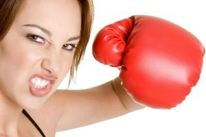 looking at viewer model women boxing gloves