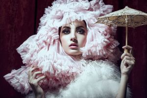 looking at viewer smoky eyes women with hats women daniel ilinca costumes model