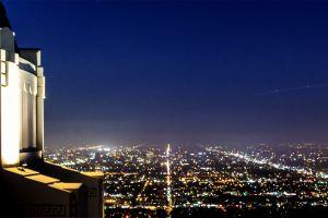 los angeles city city lights night