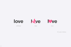 love typography alone heart (design) minimalism