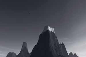 low poly isometric mountains