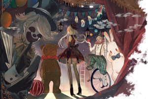 luo tianyi vocaloid stars circus clowns