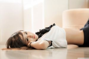 lying down photography women model asian