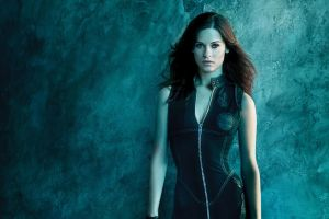 lyndsy fonseca zipper costumes actress brunette long hair black clothing
