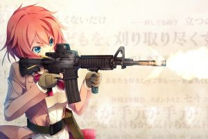 m4 carbine kanzaki sayaka girls with guns anime girls innocent bullet carbine anime