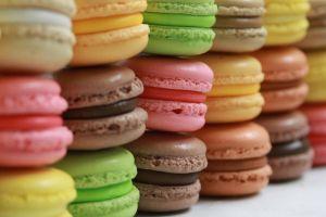macarons sweets colorful food