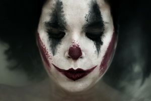 makeup clowns face