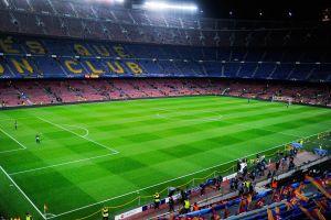 manchester city  fc barcelona soccer stadium champions league camp nou