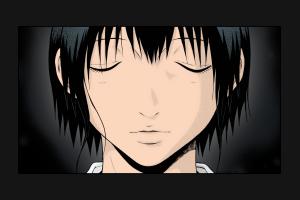 manga okada kazuto closed eyes sundome short hair sahana kurumi anime dark hair anime girls portrait