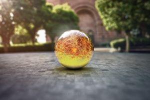 marble digital art sphere dragon ball