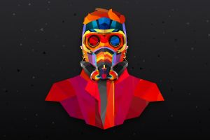 marvel comics colorful movies star lord justin maller frontal view