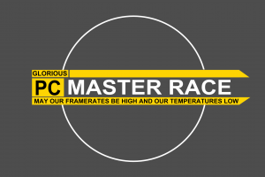 master race text pc gaming simple background