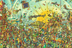 matei apostolescu detailed surreal artwork colorful