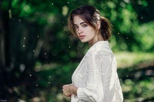 maxim guselnikov women outdoors auburn hair women