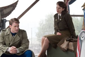 men actor steve rogers movies painted nails red nails hayley atwell red lipstick actress women uniform skirt chris evans peggy carter soldier