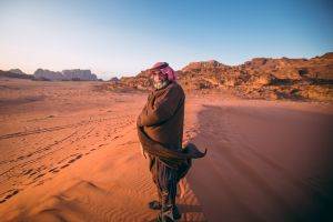 men portrait arabic men outdoors desert