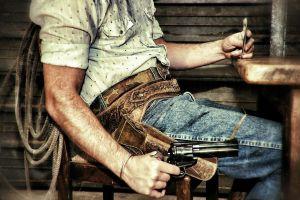 men weapon revolver poker