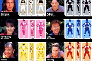 mighty morphin power rangers collage power rangers
