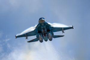 military aircraft army aircraft russian army sukhoi su-34