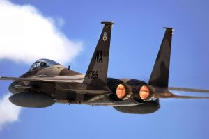 military f15 eagle air force jet fighter