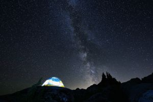 milky way night stars landscape