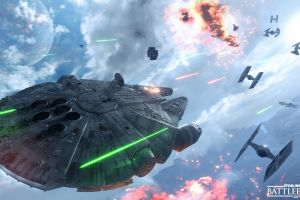millennium falcon star wars: battlefront video games tie fighter