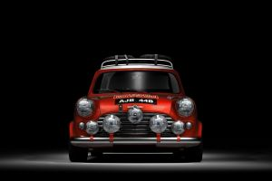mini cooper sports car car rallye red cars black background