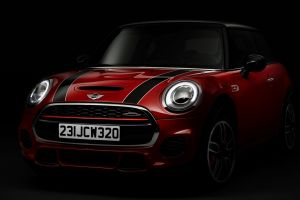 mini jcw vehicle car mini cooper red cars