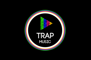 minimalism circle triangle typography simple background trap music