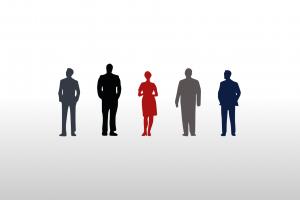 minimalism silhouette mad men