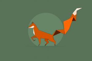 minimalism vector fox
