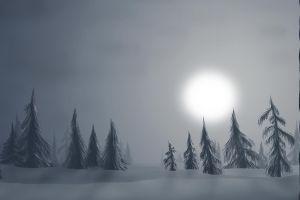 mist artwork snow
