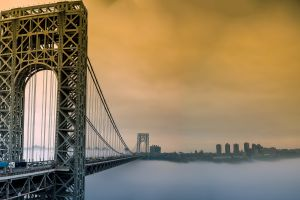 mist george washington bridge bridge