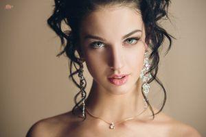 model alla berger sensual gaze face portrait women