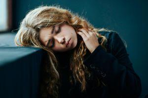 model blonde alexander vinogradov long hair closed eyes women freckles