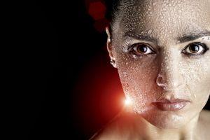 model face lights women portrait