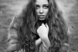 model face monochrome portrait women