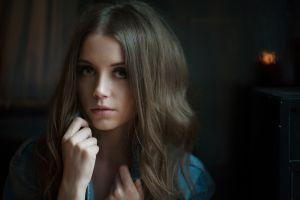 model ksenia kokoreva face portrait women