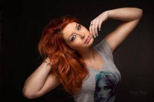 model long hair women portrait redhead face
