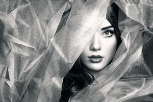 model monochrome fashion women face