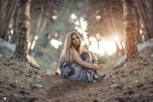 model nature women portrait