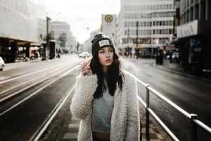 model portrait city women