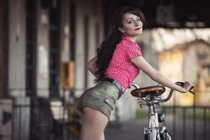 model shorts smiling women