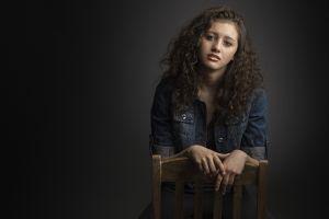 model women chair portrait