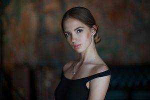 model women face brunette portrait victoria lukina
